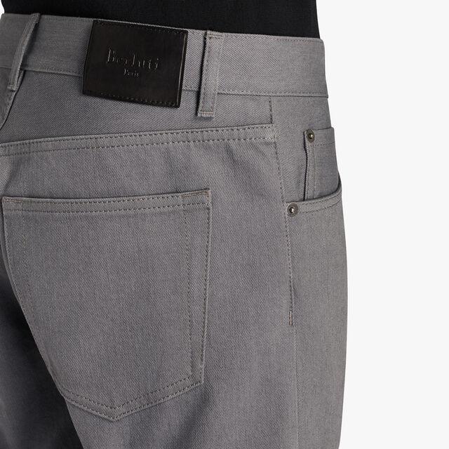 Narrow Fit 5-Pocket Denim Jeans, SILVER GREY, hi-res