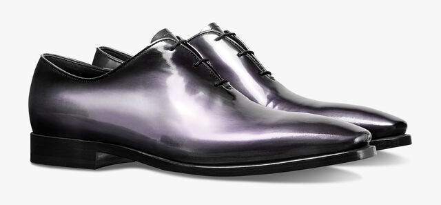 Alessandro Eclair Calf Leather Oxford with Metallic Details, BLACK METAL, hi-res