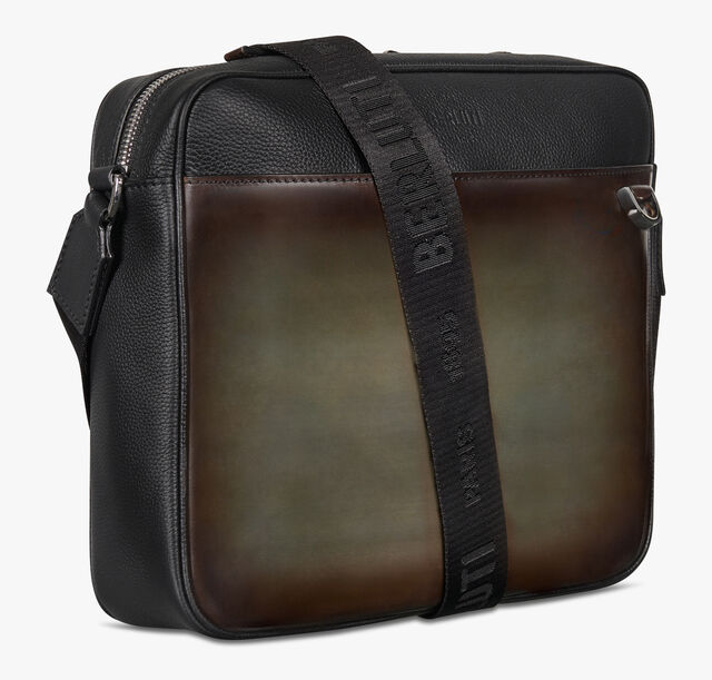 Contraste Leather Messenger Bag, ICE BROWN, hi-res
