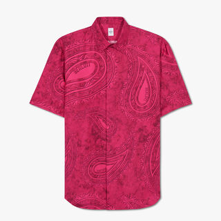 Short Sleeve Printed Silk Shirt