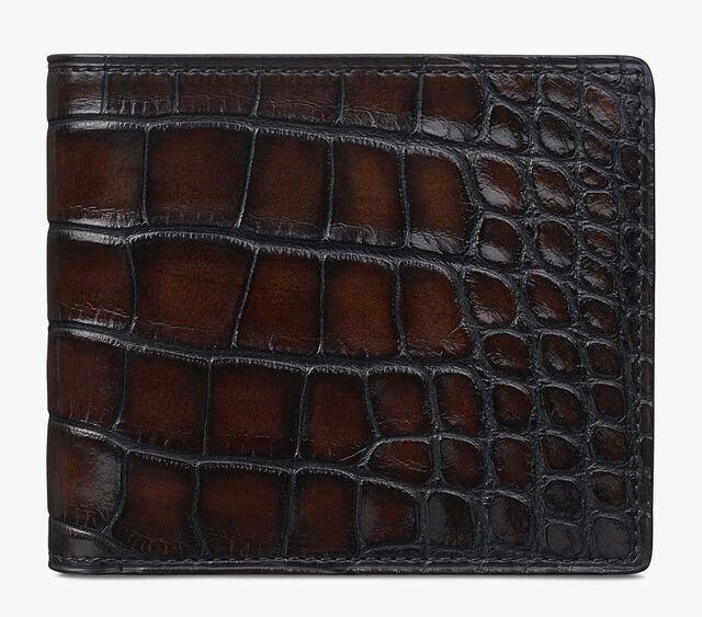 Makore Alligator Leather Compact Wallet, TDM, hi-res