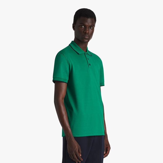 Polo En Coton Avec Logo Brodé - Coupe Regular, CLOVER GREEN, hi-res