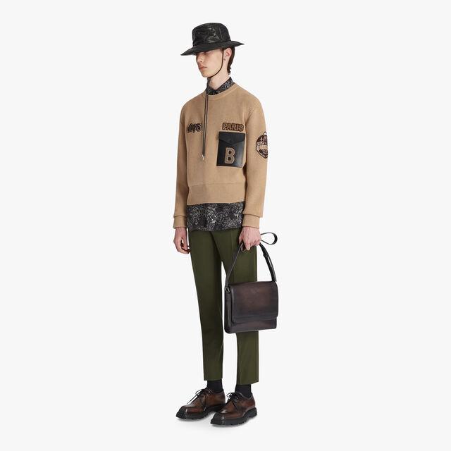 Military Rib Sweater, DESERT TAN, hi-res