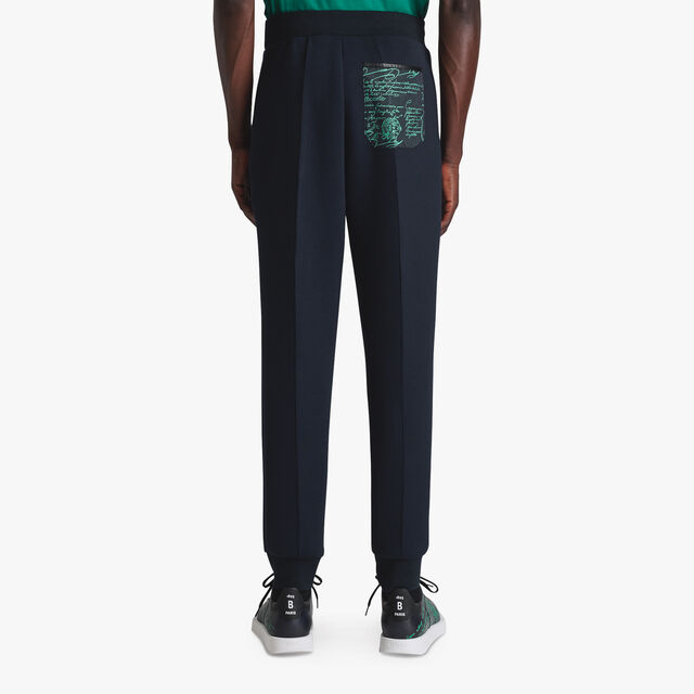 Jersey Trousers With Leather Details, COSMIC BLUE / CLOVER GREEN, hi-res