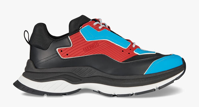 Gravity Leather Sneaker, BLUE/RED, hi-res
