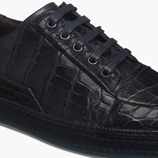 Playtime Palermo Alligator Leather Sneaker, NAVY BLU, hi-res