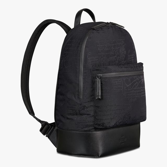 Volume Small Scritto Nylon Backpack, NERO, hi-res