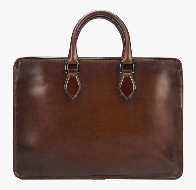 Un Jour Mini Leather Briefcase, MOGANO, hi-res