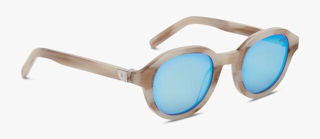Acetate Eclipse Eyewear, IVORY HORN+AZURE, hi-res