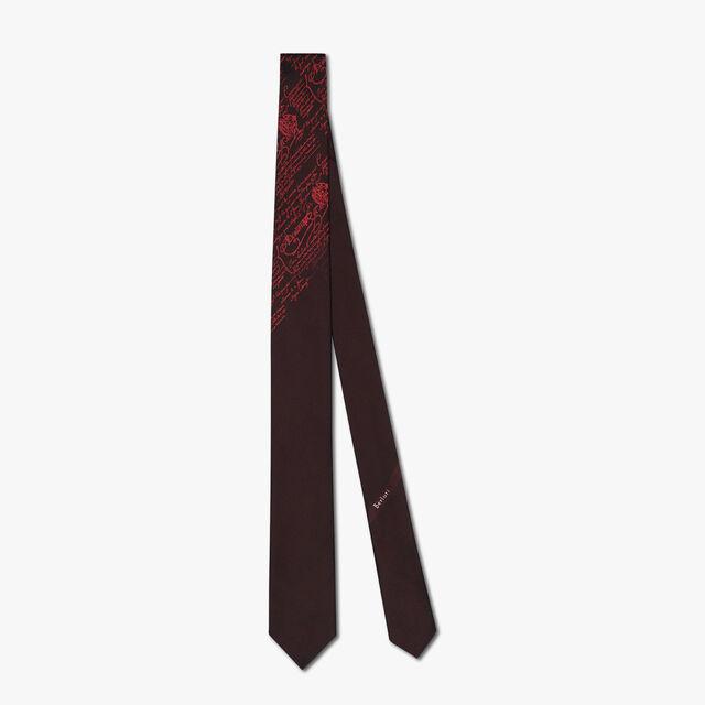 6 cm Jacquard Scritto Silk Tie, IMPERIAL RED, hi-res