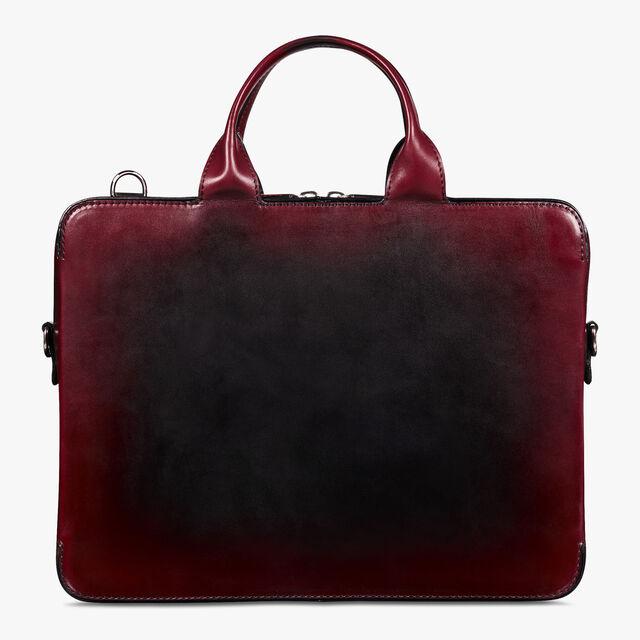 Cartable Profil 3 Mini En Cuir De Veau, BLACK RED, hi-res