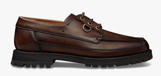 Twist Leather Boat Shoe