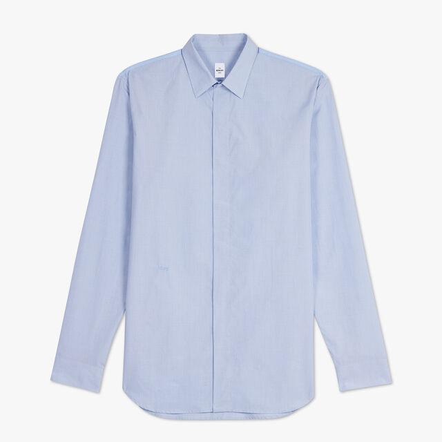 Chemise Formelle En Coton - Coupe Ajustée, ZENITH BLUE, hi-res