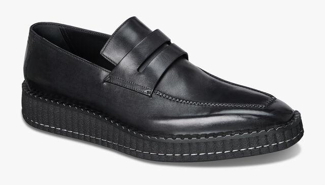 Andy Demesure Calf Leather Loafer, JET BLACK, hi-res