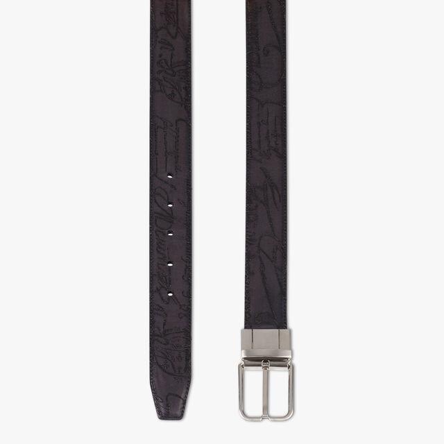 Essence Reversible Leather Belt - 32 mm, NERO & TOBACCO BIS, hi-res