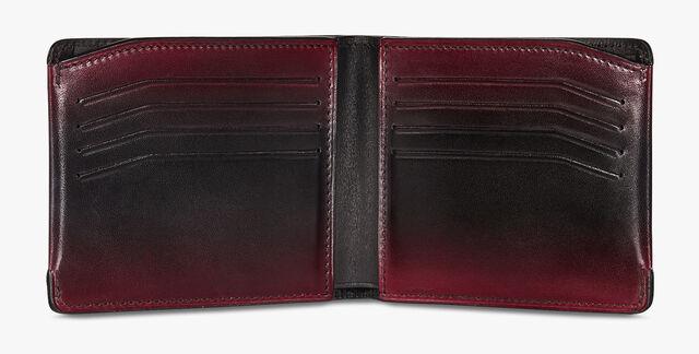 Essentiel Epure Compact Leather Wallet, BLACK RED, hi-res