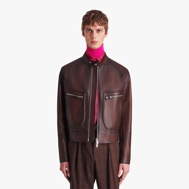 转色皮革机车夹克, EBANO, hi-res