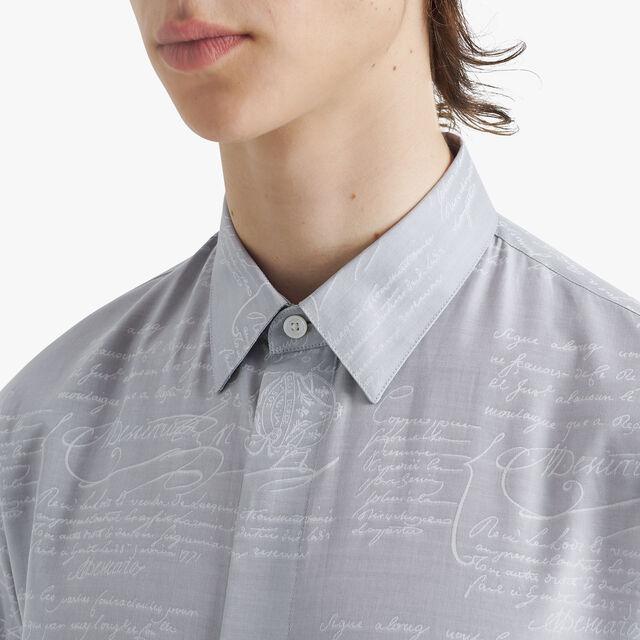 Scritto Cotton Jacquard Shirt, ICE GREY, hi-res