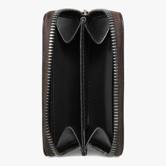 Wapa Scritto Leather Zipped Coin Purse, TOBACCO BIS, hi-res