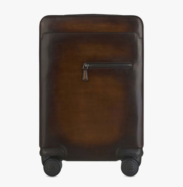 Formula 1004 Leather Rolling Suitcase, TOBACCO BIS, hi-res