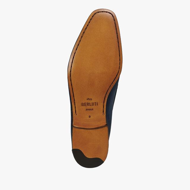 Lorenzo Rimini Scritto Leather Loafer, NAVY, hi-res