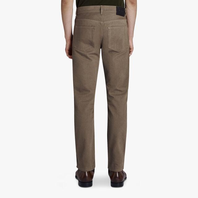 Narrow Fit 5-Pocket Denim Jeans, YELLOW, hi-res
