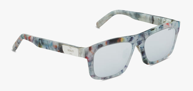 Neon Rectangular Shape Acetate Sunglasses, MARBLE, hi-res