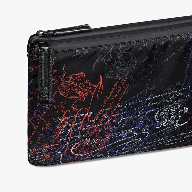 Esprit Medium Nylon Calf Leather Clutch, NEW WAVE, hi-res