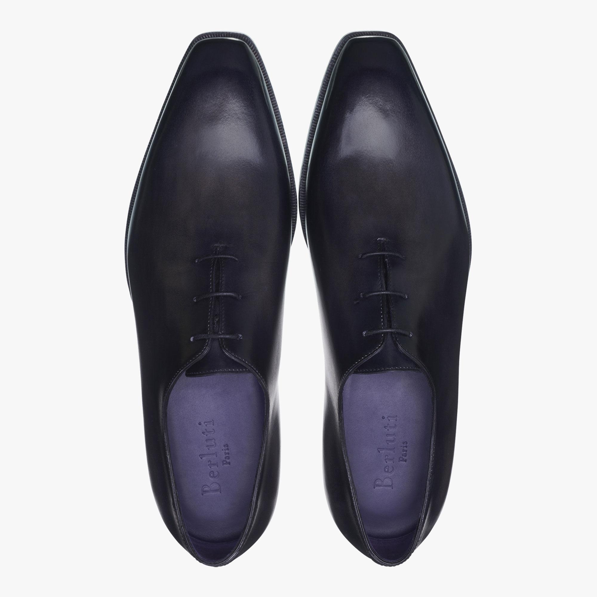 Alessandro Démesure Leather Oxford, Leather Sole, NERO, hi-res