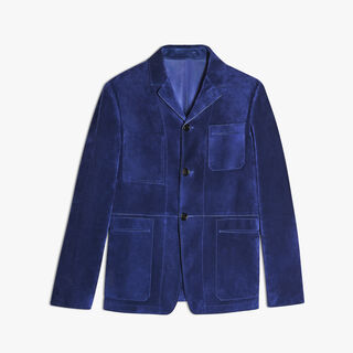 Unlined Suede Jacket, BLUE MARINE, hi-res