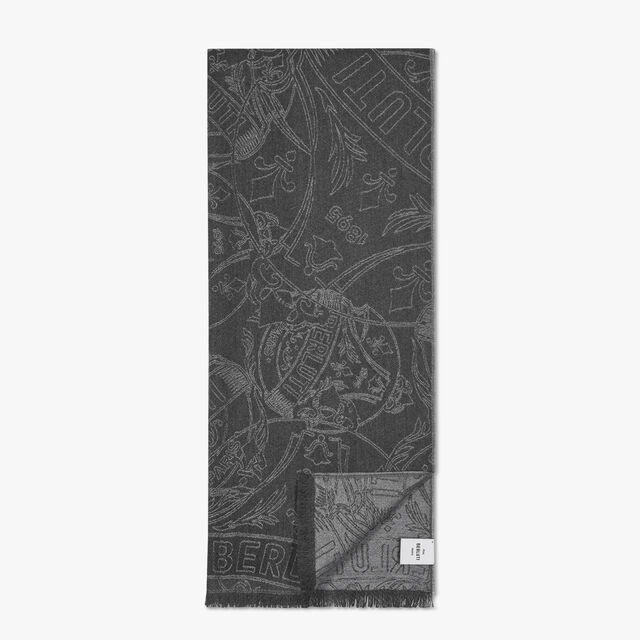 Crest Cashmere Scarf, MYSTERIOUS GREY, hi-res
