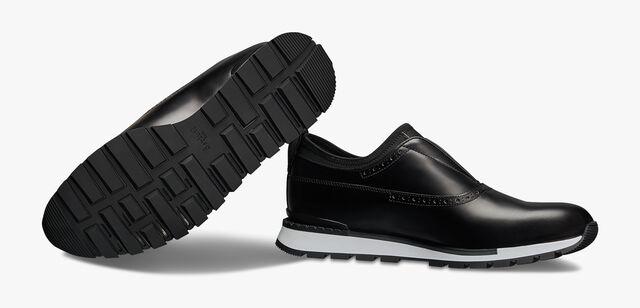 Fast Track Torino Glazed Calf Leather Sneaker, NERO, hi-res