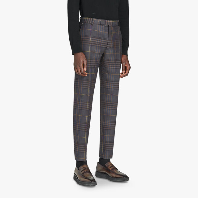 Alessandro Regular Formal Checked Wool Pants