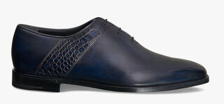Scars Démesure Venezia Calfskin and Alligator Oxford, BLU PROFONDO, hi-res