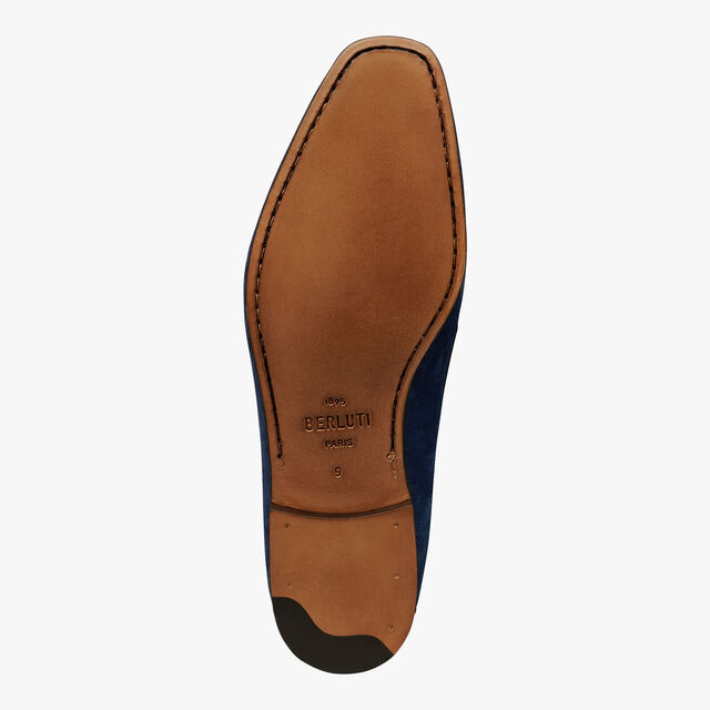 Lorenzo Rimini Leather Loafer, NAVY, hi-res