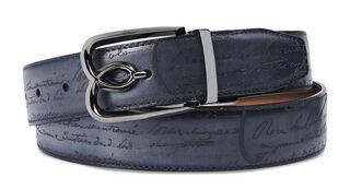 B Volute Reversible Leather Belt - 35mm, TOBACCO BIS & NERO, hi-res