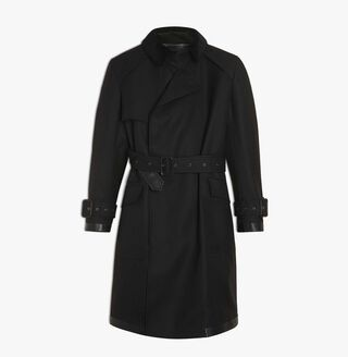 Trench-Coat En Laine, NOIR, hi-res