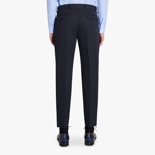 Slim-Fit Wool Gabardine Trousers, ULTRAMARINE, hi-res