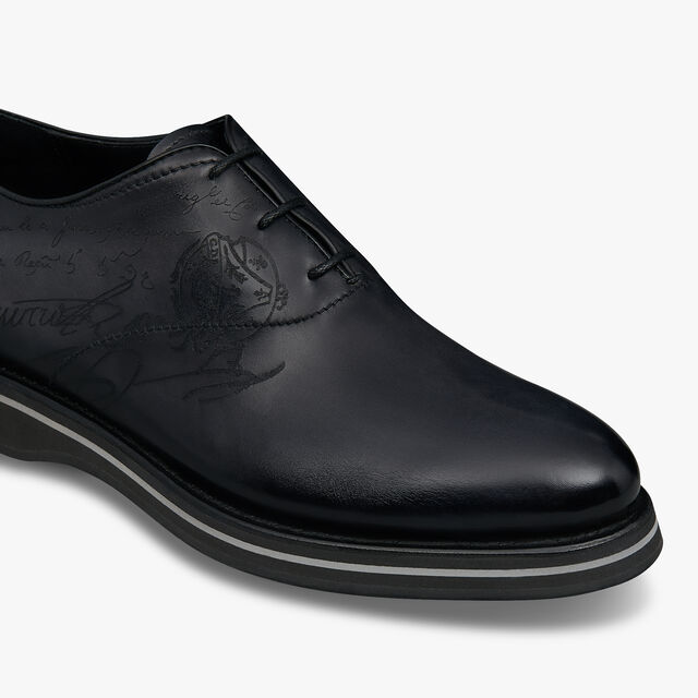 Alessio Padova Leather Oxford, NERO GRIGIO, hi-res