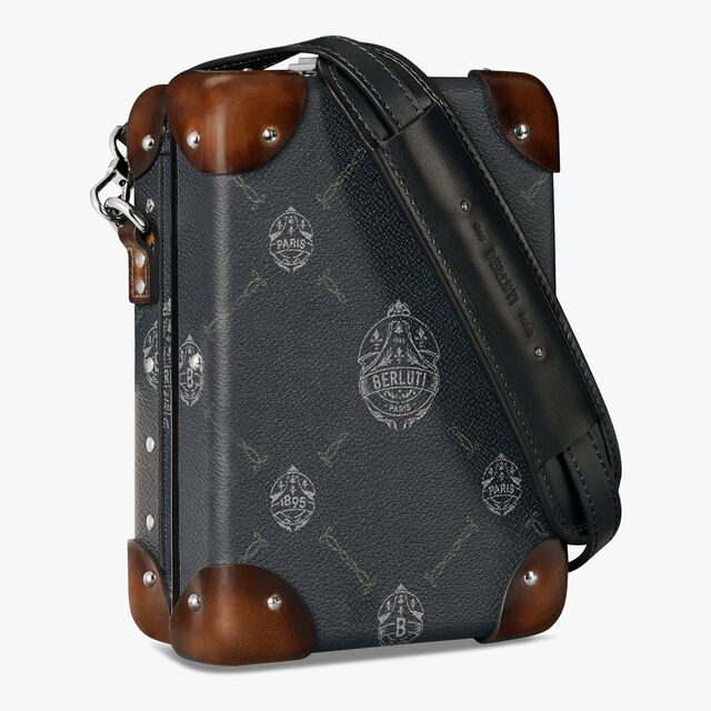 Globe-Trotter Mini Canvas And Leather Messenger Bag