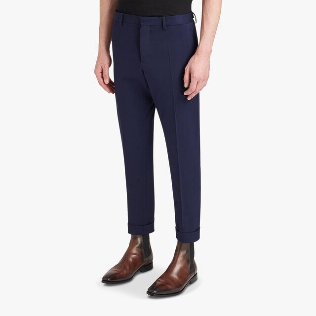 Slim-Fit Wool-Blend Formal Trousers, ULTRAMARINE, hi-res