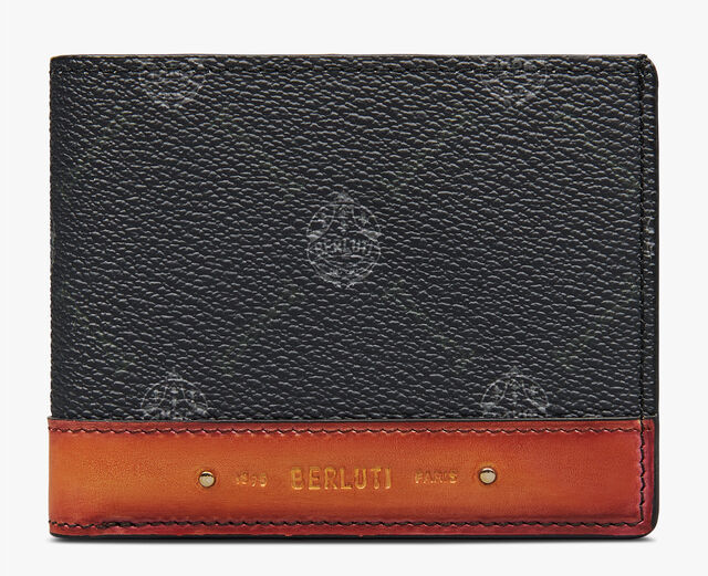Excursion Canvas And Leather Wallet, BLACK+NESPOLA ORANGE, hi-res