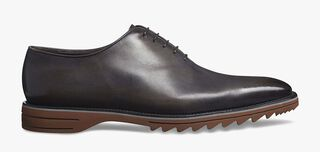 Alessandro Spada Démesure Calf Leather Oxford, WARM GREY, hi-res