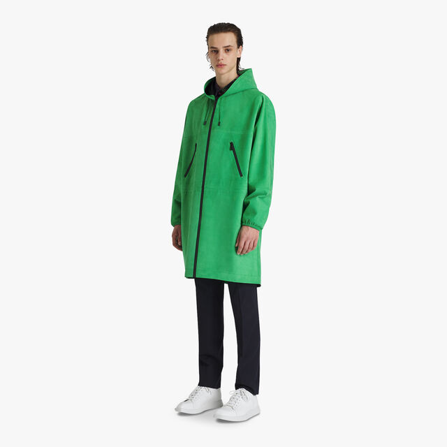 Technical Leather Parka, CLOVER GREEN, hi-res