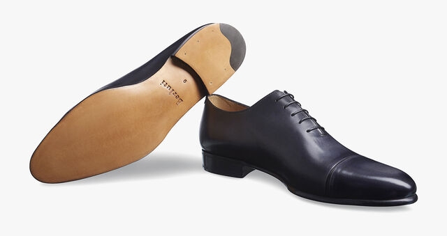 Gaspard Galet Calf Leather Oxford, NERO GRIGIO, hi-res