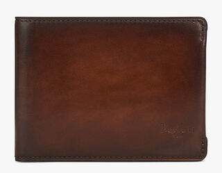 Essentiel Compact Calf Leather Wallet, MOGANO, hi-res