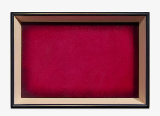 Leather Wood Tray , ROSE GARDEN PINK, hi-res