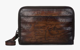 Petit Jour Leather Clutch, TOBACCO BIS, hi-res