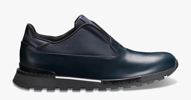 Fast Track Leather Sneaker, NAVY, hi-res