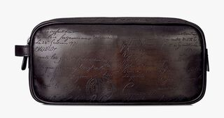 Formula 1003 Engraved Calf Leather Pouch, CAFFE, hi-res